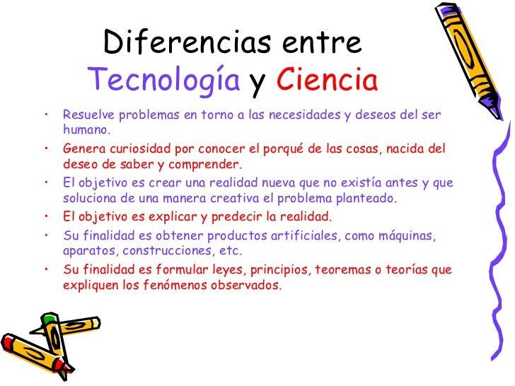 Diferencia entre ciencia y tecnolog a for Diferencia entre yeso y escayola
