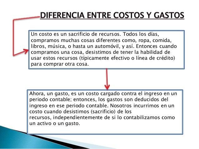 Diferencia entre costos y gastos for Diferencia entre yeso y escayola