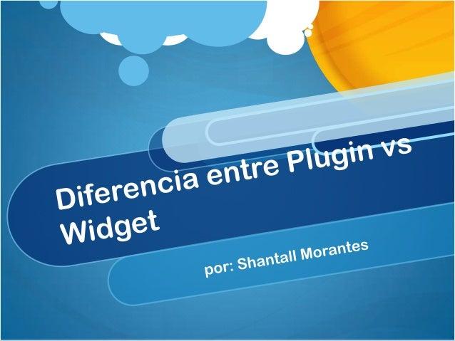 Diferencia entre widgets y plugins