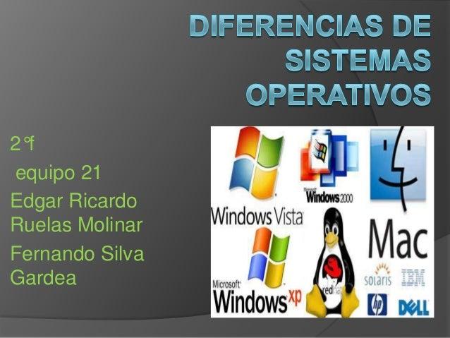 Diferencias de sistemas operativos