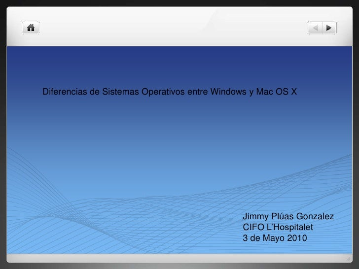 Diferencias en mac y pc