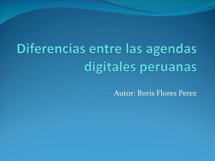 Diferencias entre las agendas digitales peruanas