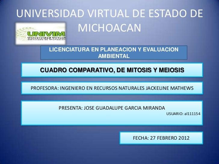 UNIVERSIDAD VIRTUAL DE ESTADO DE          MICHOACAN        LICENCIATURA EN PLANEACION Y EVALUACION                       A...