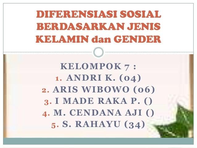 Diferensiasi sosial berdasarkan jenis kelamin