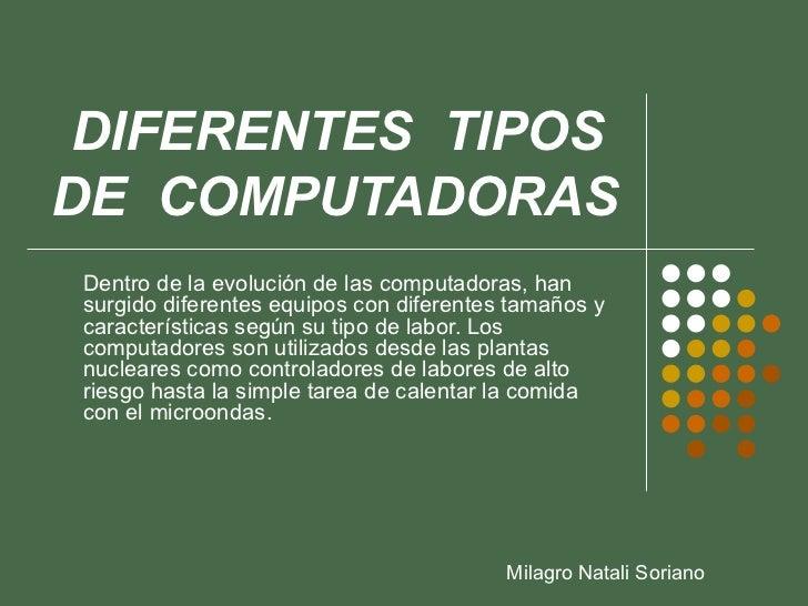 Diferentes tipos de computadoras for Diferentes tipos de viveros