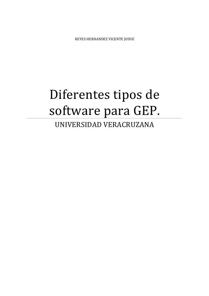 REYES HERNANDEZ VICENTE JOSUEDiferentes tipos desoftware para GEP. UNIVERSIDAD VERACRUZANA