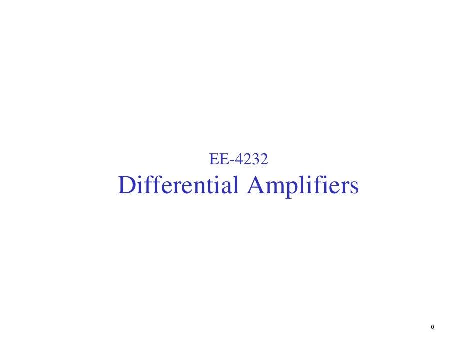 EE-4232 Differential Amplifiers                               0