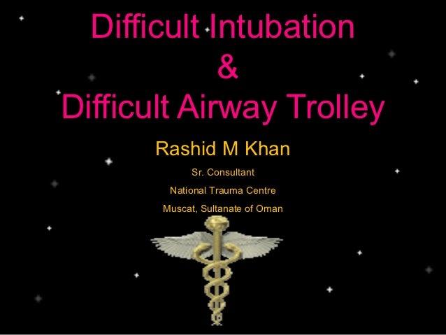 Difficult airway management for nursing staff