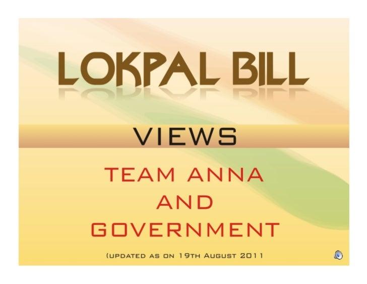 Lokpal - Jan vs Govt