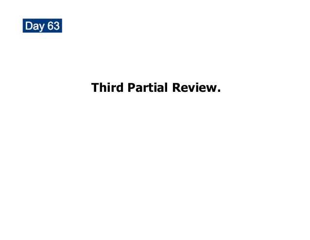 Diff Calc Third Partial review