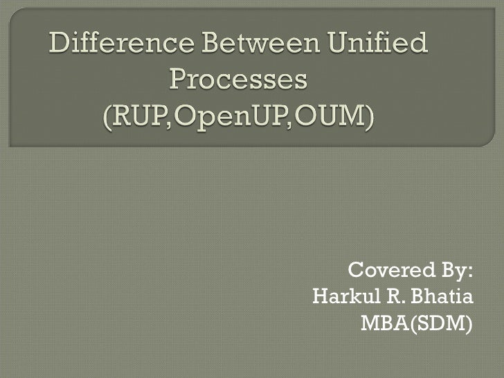 Difference Unified Processes