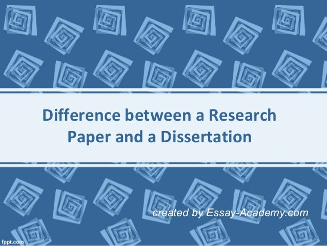 Research paper and thesis difference