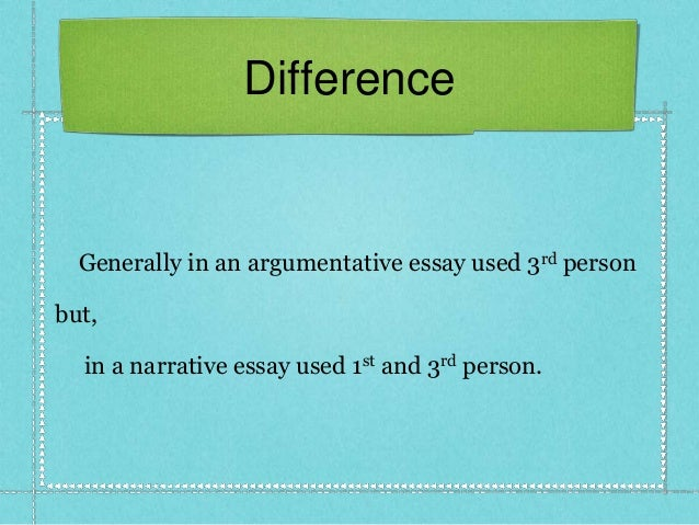 What is the difference of narrative essay among the other essays ?