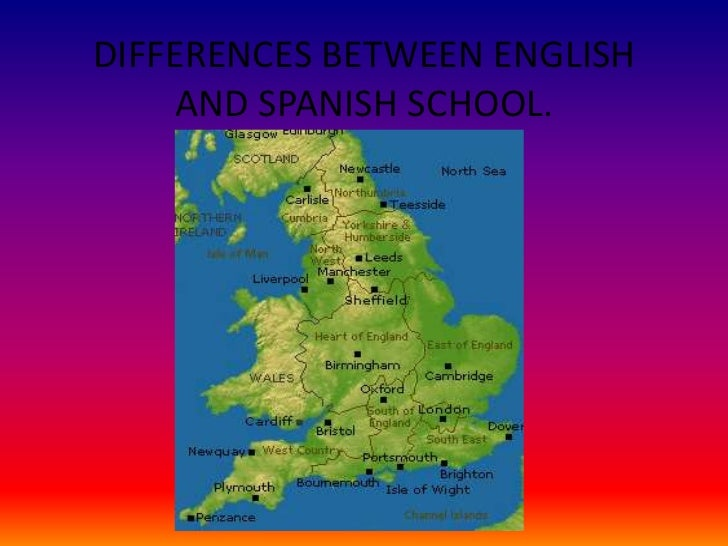 Philosophy differences between english and spanish schools
