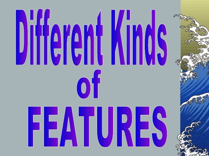 Different Kinds of FEATURES
