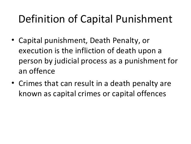 Capital punishment persuasive essay