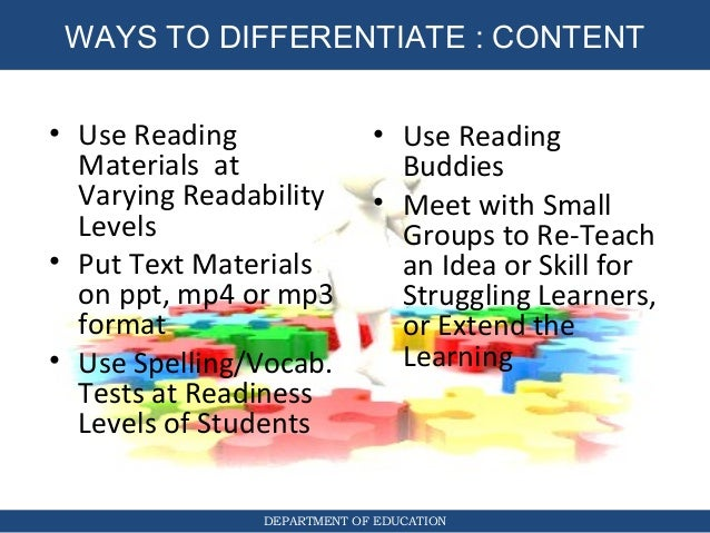 How To Use Differentiated Instruction X X 2018