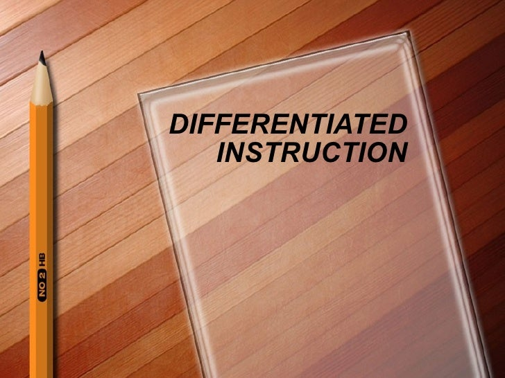 Differentiated Instruction For Saturday1111