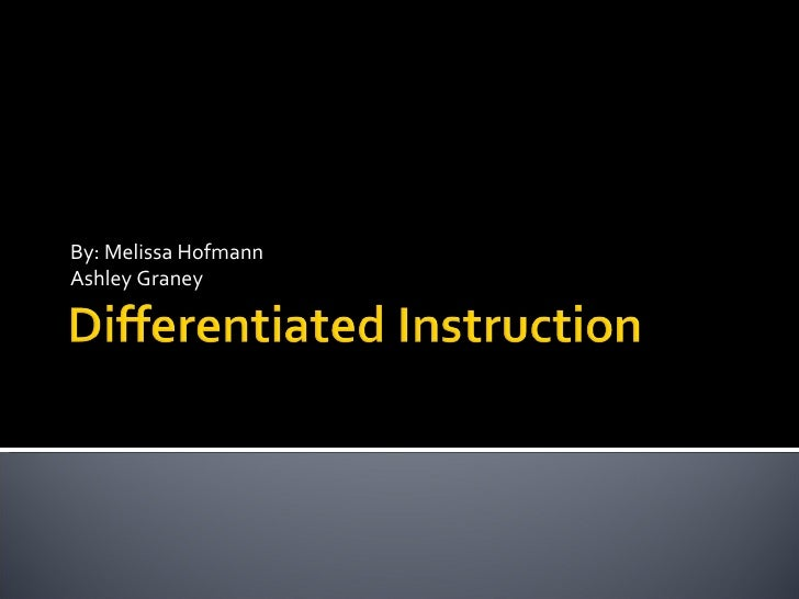 Differentiated Instruction powerpoint