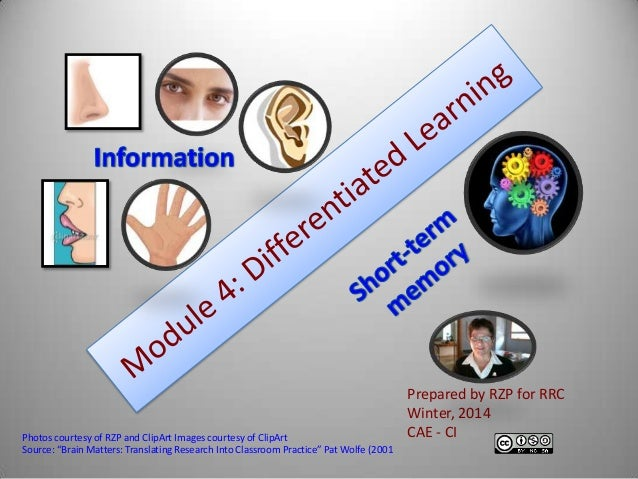 Differentiated Learning for CAE CI 2014