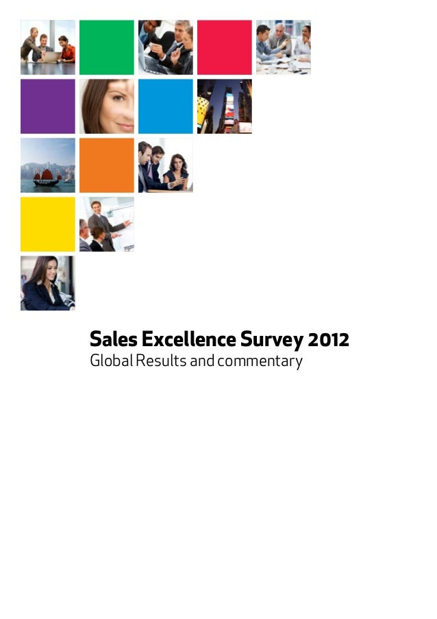 Sales Excellence Survey 2012 Global Results and commentary