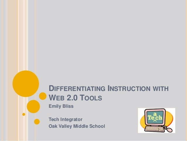 Differentiating instruction with web 2