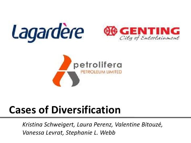 Cases of Diversification<br />Kristina Schweigert, Laura Perenz, Valentine Bitouzé, Vanessa Levrat, Stephanie L. Webb<br />