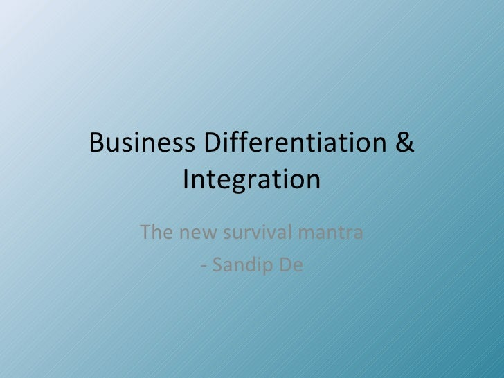 Differentiation and integration