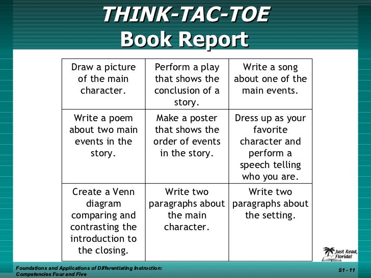 book report tic tac toe Books 5th grade book report tic tac toe 4 delano high school (pdf, epub, mobi) page 1 california state board of education  august 2010 and modified wed, 04 jul.