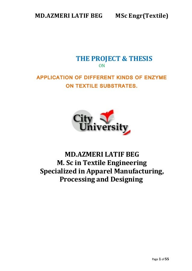 enzyme thesis 1msc molecular biology and biotechnology (2012-2014) project work: ―study of the induction level of cytochrome p45.