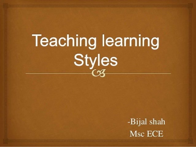 various learning styles essay