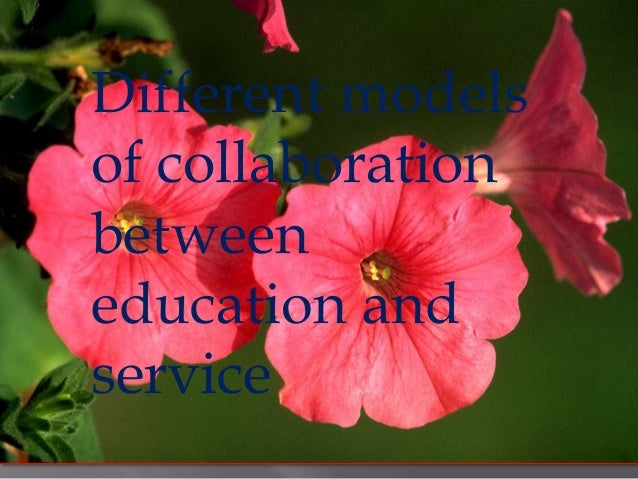 Different models of collaboration between education and service