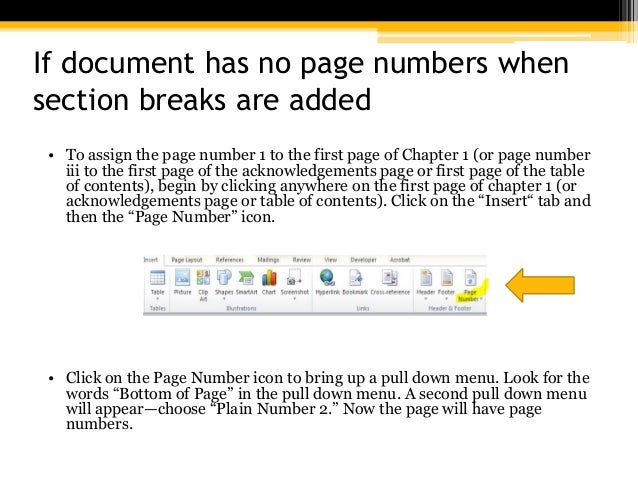 How to manage Word to use roman numbers on the first pages of a document?