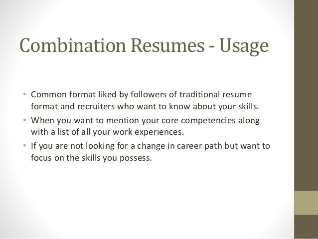 Different Resume Format Vosvetenet – Updated Resume Formats