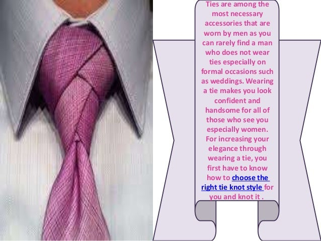 Images For > Types Of Tie Knots And How To Tie Them