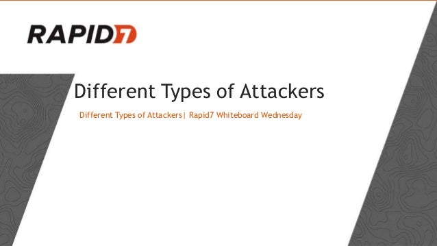 Different Types of Attackers Different Types of Attackers| Rapid7 Whiteboard Wednesday