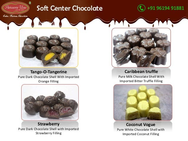 Different types of chocolates