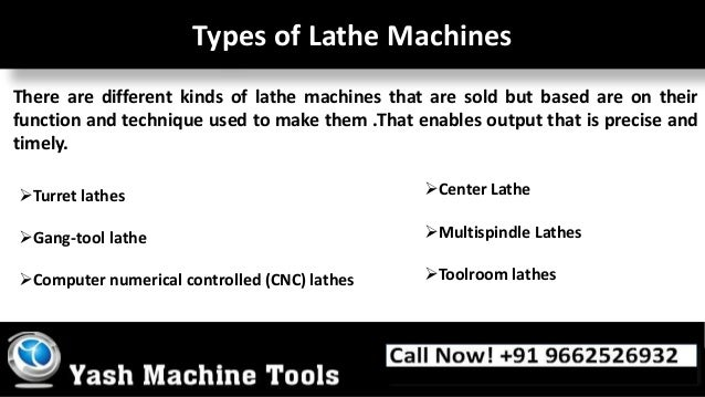 types of machine tools