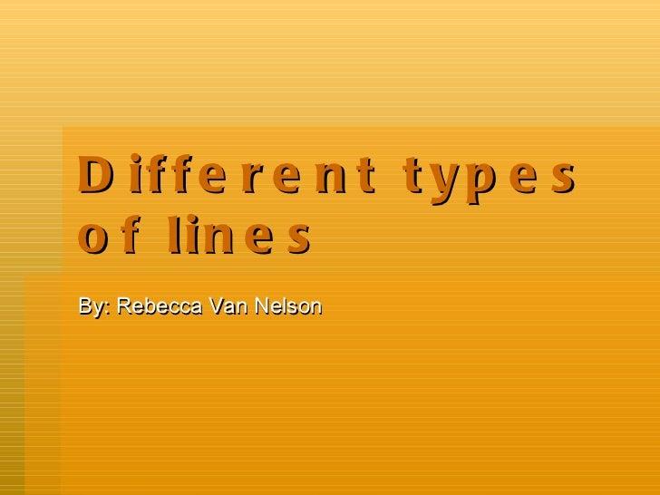 Different Types Of Lines : Different types of lines