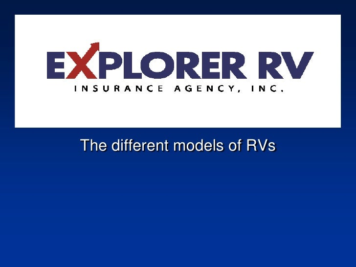 Different Models of RV's   The different models of RVs