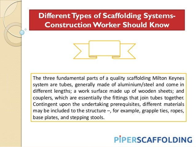 Different Types Of Scaffolding : Different types of scaffolding systems construction worker