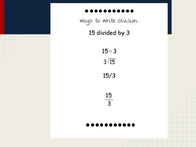 Number Names Worksheets » Different Ways To Write Division - Free ...