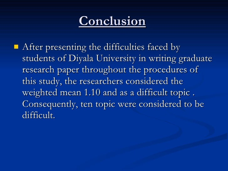 difficulties in writing a research paper