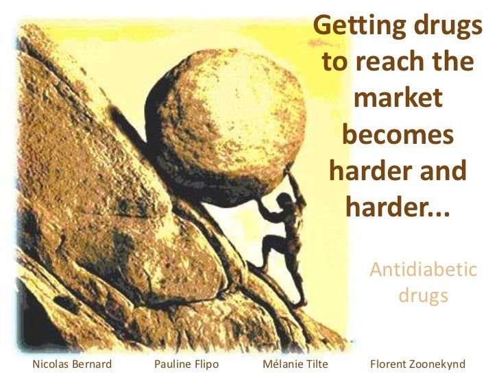 Getting drugs to reach the market becomes harder and harder...