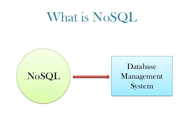 What is NoSQL NoSQL Database Management System