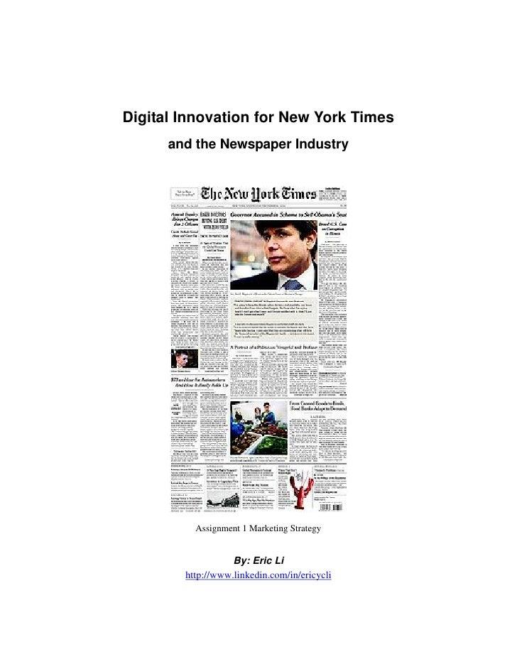 Diffrenciation NY Times