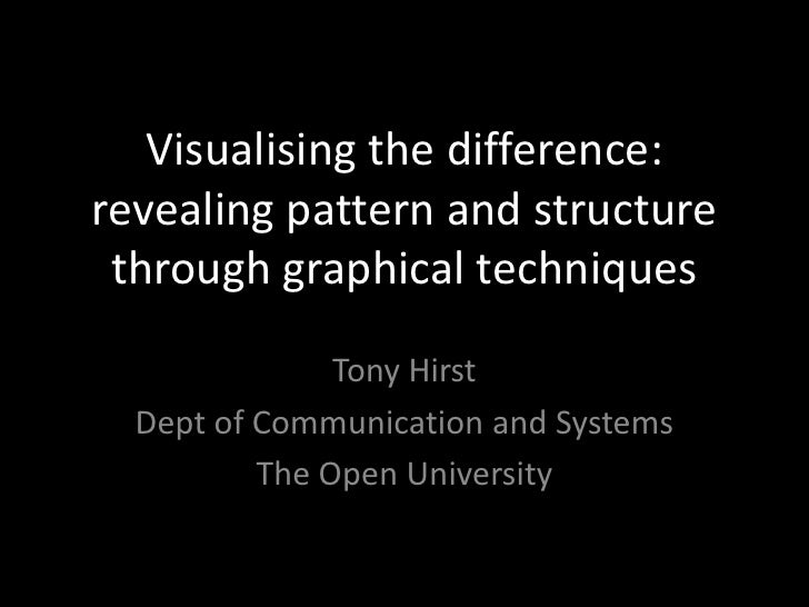 Visualising the difference: revealing pattern and structure through graphical techniques<br />Tony Hirst<br />Dept of Comm...