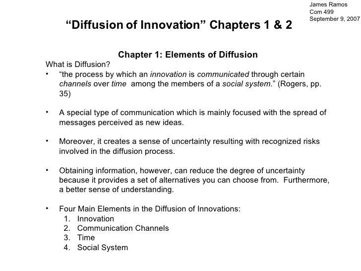 "<ul><li>Chapter 1: Elements of Diffusion </li></ul><ul><li>What is Diffusion?  </li></ul><ul><li>"" the process by which an..."