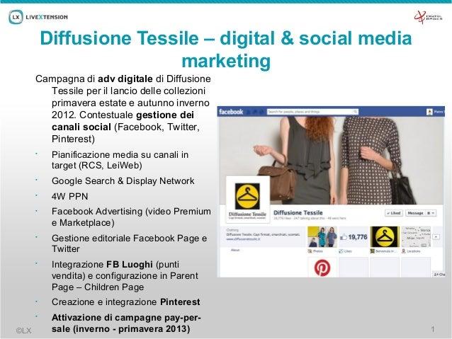 LX per Diffusione Tessile: web marketing 2012-2013