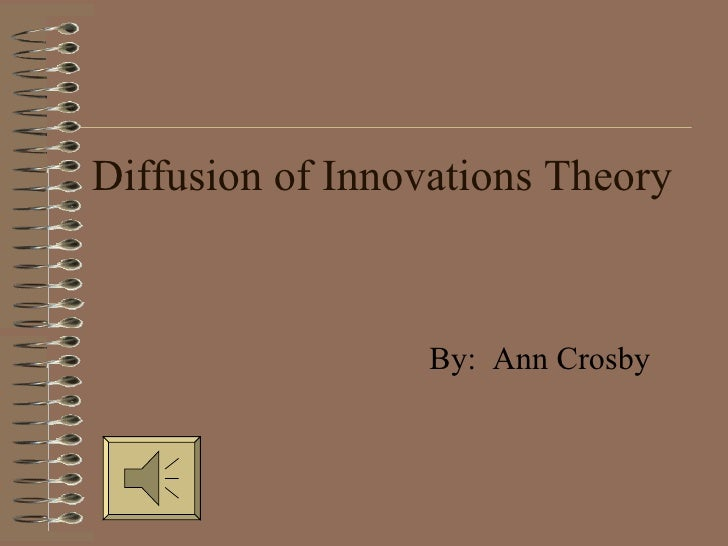 Diffusion of Innovations Theory By:  Ann Crosby